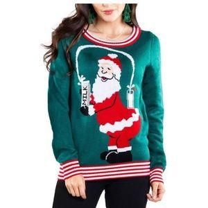 Tipsy elves Santa breaks the internet sweater S A6